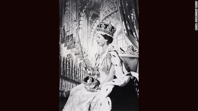 Coronation portrait of Her Majesty Queen Elizabeth II, 1953, Cecil Beaton.