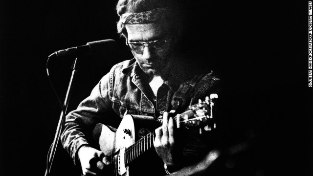 Musician JJ Cale died Friday, July 26, after suffering a heart attack. He was 74. Above, Cale performs at the Carre Theatre in Amsterdam in 1973.