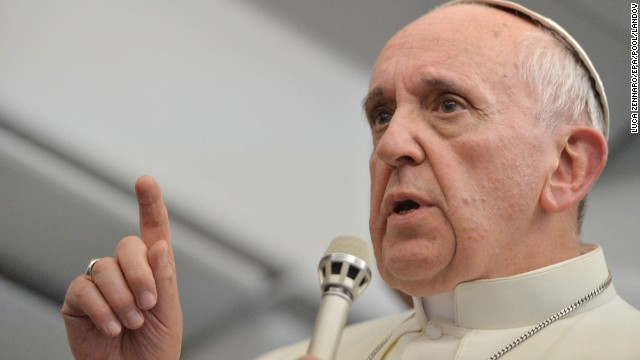 "On the flight, Francis said he will not ""judge"" gay priests, a huge shift from his predecessor, Pope Emeritus Benedict XVI, who sought to bar men with ""homosexual tendencies."" ""If someone is gay and he searches for the Lord and has good will, who am I to judge?"" Francis said."
