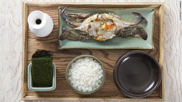Congdu's soy sauce crab is made with Korean blue crab.