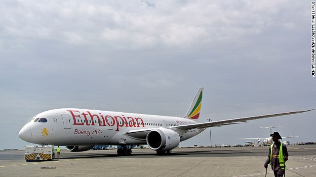 Ethiopian Airlines was the first airline to resume flying the Boeing 787 (pictured prior to an April takeoff) that were grounded worldwide earlier this year due to battery problems.