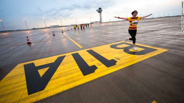 Still waiting for take-off: A half-marathon took place at Berlin Brandenberg Willy Brandt Airport in April 2013. The airport was originally planned to open in 2010.