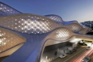 Sistema futurista del metro de Riad