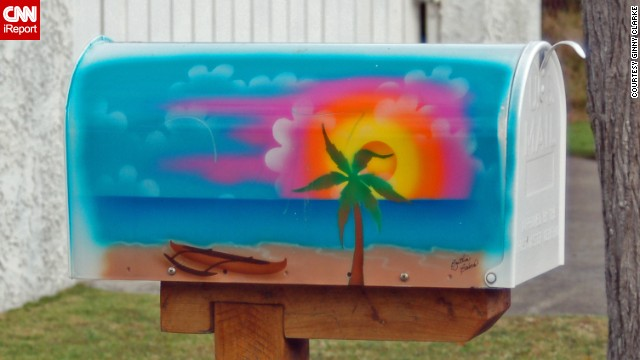 In her neighborhood on Oahu in Hawaii, Ginny Clarke took note of colorful mailboxes such as this one.