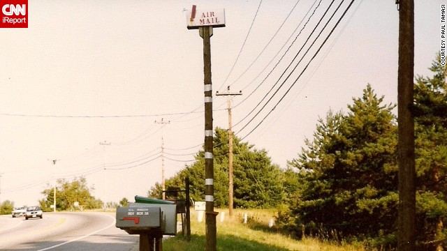 Paul Tamasi spotted this hilariously tall mailbox on a road trip with his son along Route 2 in Maine.
