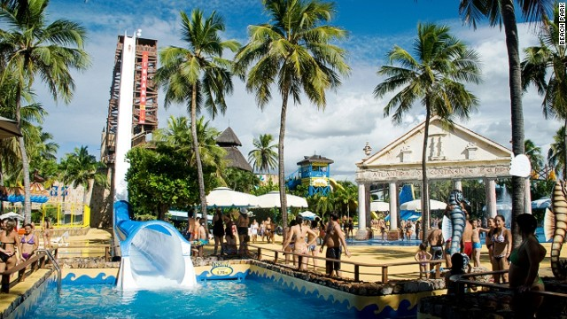 Around 700,000 people visit Beach Park every year. It covers 42 acres, making it the largest water park in Latin America.