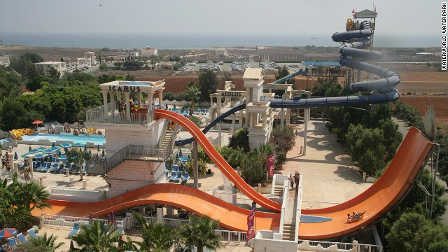 Inspired by Mount Olympus, the thrill rides at WaterWorld Waterpark include tube slides, whirlpool rides and a wave pool. Other attractions include a fish spa and go-kart track.