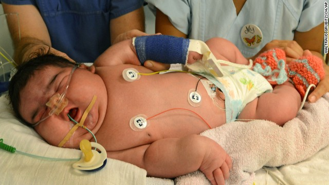 At more than 13 pounds, Jasleen became Germany's heaviest newborn at her birth in Leipzig on Monday, July 29.