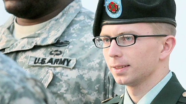 Pfc. Bradley Manning was found guilty of espionage on Tuesday. His sentencing hearing begins Wednesday.