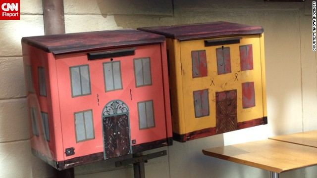 As a professor of interior design, Nadya Kozinets was drawn to these mailboxes in Stockholm, Sweden.