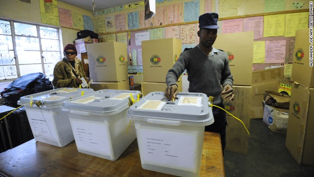 Some 6.4 million voters in Zimbabwe -- about half of the country's population --are eligible to cast their ballots Wednesday, according to the electoral commission.