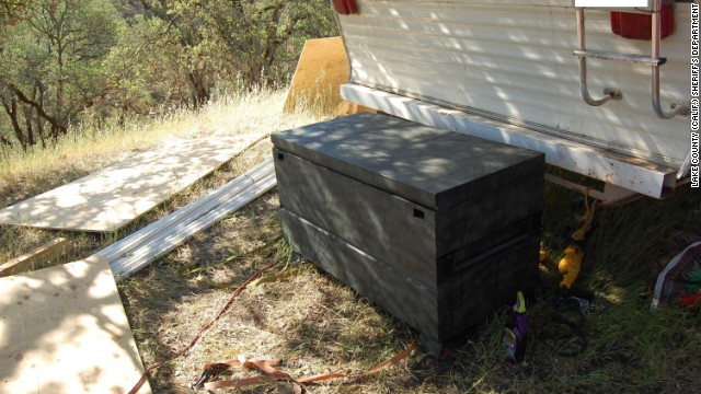 "What began as an investigation into a suspected marijuana-growing farm in Northern California has led to allegations of a 15-year-old girl being held captive in a coffinlike metal box and sexually abused. Authorities said the girl sometimes was held in a metal toolbox 4 feet long, 2 feet wide and 2 feet high at the farm, where she worked trimming marijuana plants, in Lake County, north of San Francisco. She told authorities that two men ""put her in the box to 'teach' her because they had a 'point to prove,' "" according to a criminal complaint."