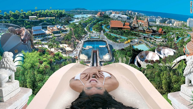 This Thai-themed water park offers surf lessons in the wave pool, which is capable of creating waves up to nine feet (three meters) high.