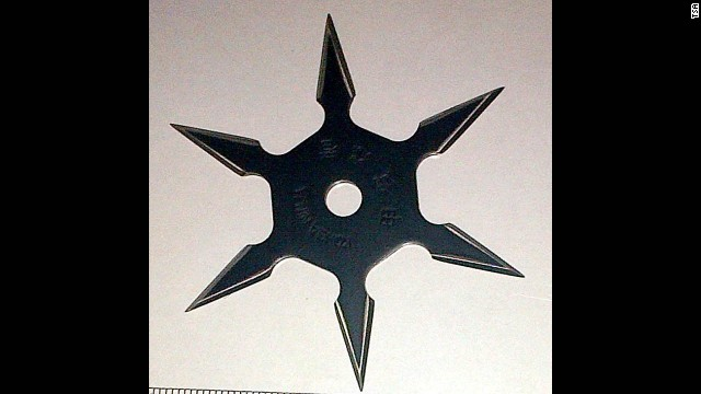 A throwing star was found at Los Angeles International Airport.
