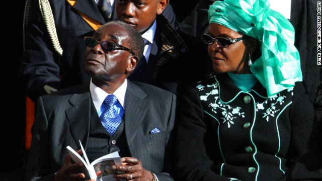 Mugabe and his wife, Grace, attend the inauguration Mass for Pope Francis on March 19 at the Vatican.