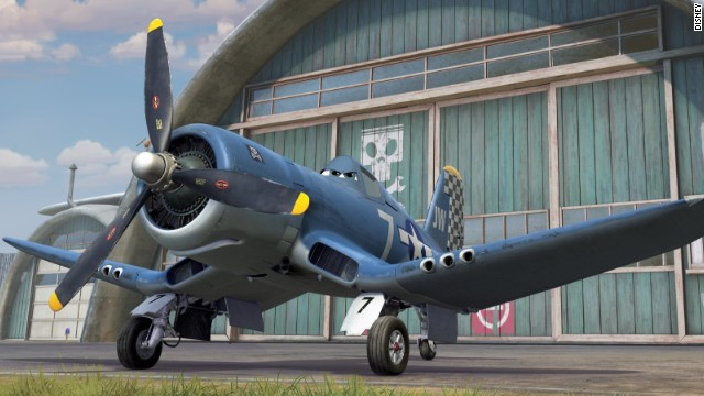 """Skipper is an F4U Corsair,"" Bautista said. ""I really like Skipper because he's an old warrior -- an old fighter plane guy from World War ll. He carries a lot in the soul of his character and in his voice."" Stacy Keach voices Skipper."