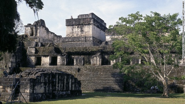 When the Pacific Ocean altered rainfall patterns around the world, the subsequent climate shifts coincided with the fall of Mayan civilization, researchers said, occurring after the peak in A.D. 900. This is the Mayan temple complex at Tikal, Guatemala.