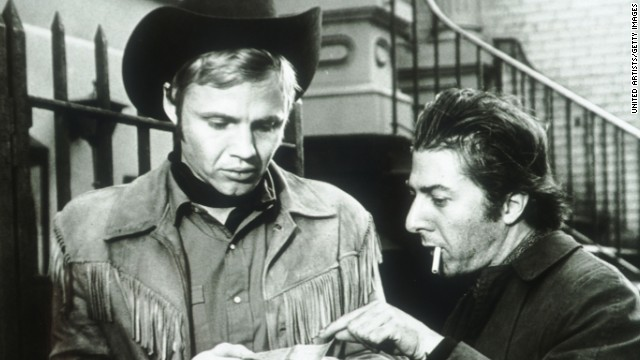 """<strong>""""Midnight Cowboy"""" (1969)</strong><strong>:</strong> This award-winning classic stars Jon Voight, left, as a young Texas dishwasher named Joe Buck who packs up and moves to New York City where he tries to survive as a male prostitute. Dustin Hoffman also stars. <strong>(Amazon)</strong>"""