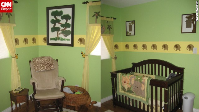 <a href='http://ireport.cnn.com/docs/DOC-1012914'>Kelly Boeckman</a>'s elephant-themed nursery.
