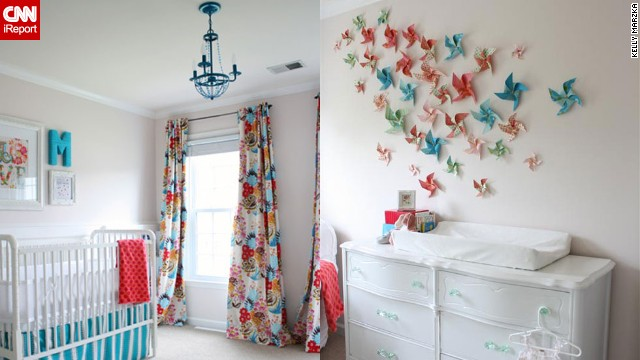 <a href='http://ireport.cnn.com/docs/DOC-1011134'>Kelly Marzka</a>'s happy, bright <a href='http://www.viewalongtheway.com' target='_blank'>girl's nursery</a>.
