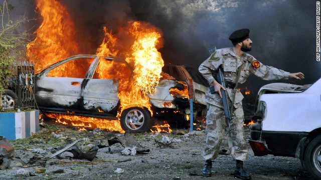 A U.S. diplomat and his driver were among at least four people killed on March 2, 2006, in an apparent suicide attack outside the <a href='http://www.cnn.com/2006/WORLD/asiapcf/03/01/karachi.blast/index.html'>U.S. Consulate in Karachi, Pakistan</a>.