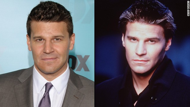 "Before vampires drank Tru Blood in Louisiana and uncovered ""Originals"" in Mystic Falls, there was David Boreanaz's Angel. Boreanaz portrayed this tortured vamp so well he got his own show, ""Angel,"" from 1999 to 2004. Since then, he's been a megastar over on ""Bones"" as Special Agent Seeley Booth -- although his personal life did take a hit in 2010 when he admitted to cheating on his wife."