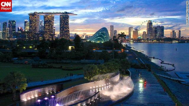 <a href='http://ireport.cnn.com/docs/DOC-941405'>Quyen Lam</a> captured this image of dusk in Singapore during a July 2011 vacation.