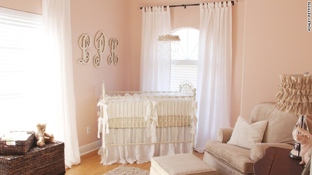 Ashley Pettitte's <a href='http://godblessournest.blogspot.com' target='_blank'>soft, feminine nursery</a>.