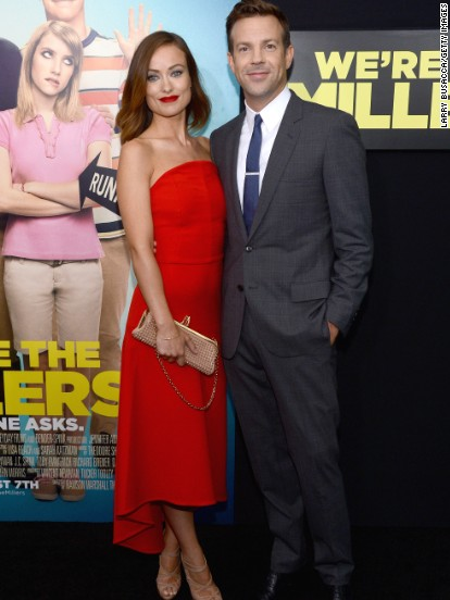 Olivia Wilde attends her fiance Jason Sudeikis' new movie premiere on August 1.