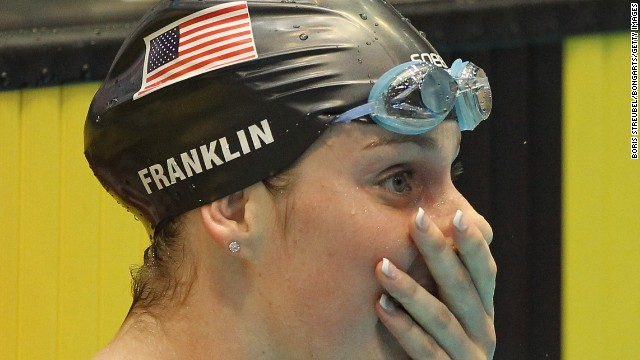 Franklin couldn't quite believe it when she set her first world record two years ago in Berlin, in the short-course 200-meter backstroke.