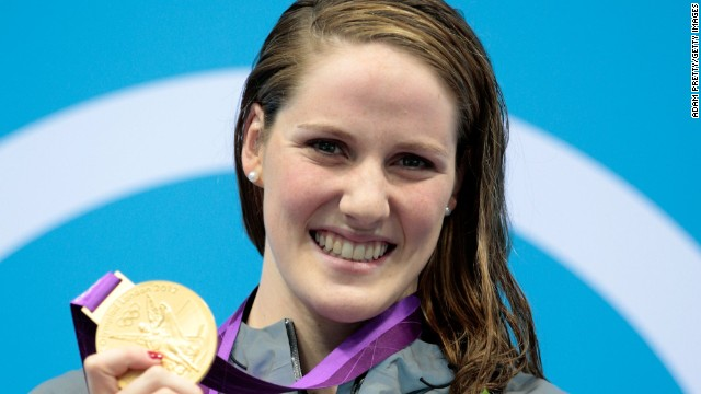Franklin won her first individual gold at London 2012 in the 100m backstroke only a few minutes after she competed in the semifinals of the 200m freestyle.