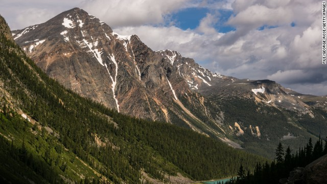 The woman was found in the Rocky Mountains in Alberta, Canada.