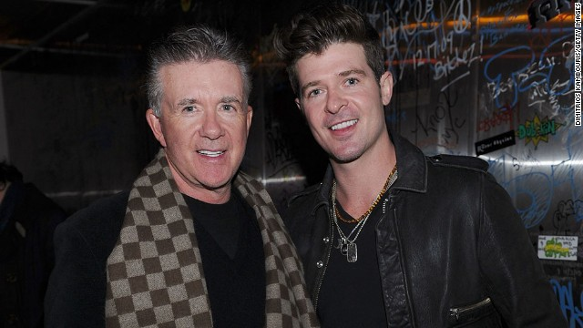 "Nearly everyone has heard the song of the summer -- Robin Thicke's ""Blurred Lines"" -- but you may not realize the R&B singer's dad, Alan Thicke, played Jason Seaver on the popular ABC sitcom ""Growing Pains,"" which ran from 1985 to 1992. Now the son is just as well-known as his dad."