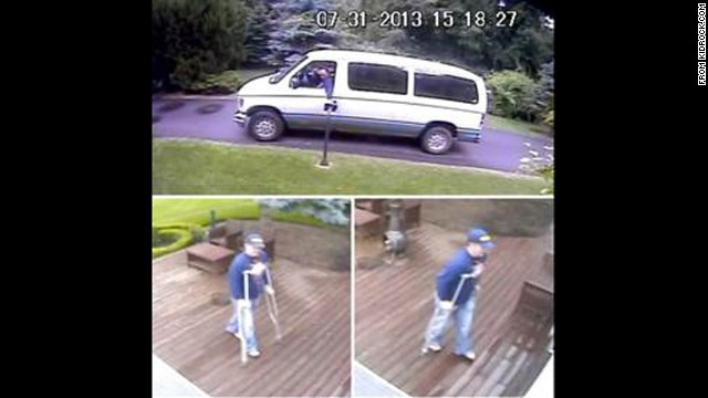 Kid Rock posted these images on his website after the attempted break-in.