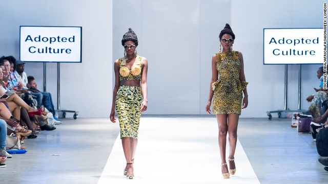 "Creations by ""Adopted Culture,"" a label founded by Nana Afua Antwi."