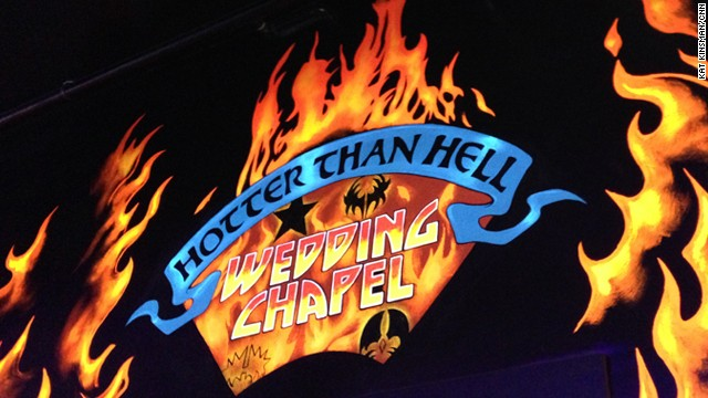 If your style is a little bit -- OK, a lot -- rock 'n' roll, consider the <a href='http://www.monsterminigolf.com/kiss/chapel9.php' target='_blank'>Hotter Than Hell Wedding Chapel</a>, conveniently located at the KISS-themed Monster Mini Golf course across from the Hard Rock Hotel.