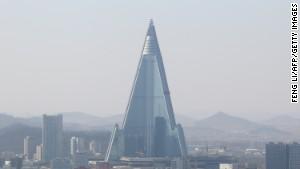 Ryugyong Hotel, Pyongyang.