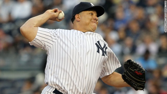 In May 2011, stem cell therapy in sports medicine was spotlighted after New York Yankee pitcher Bartolo Colon was revealed to have had fat and bone marrow stem cells injected into his injured elbow and shoulder while in the Dominican Republic. Above, Colon pitches against the Boston Red Sox on in May 2011.
