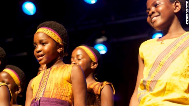 "The African Children's Choir is composed of children aged seven to 10, from various African countries. Currently touring the United States, the choir is the subject of new documentary film ""Imba Means Sing,"""