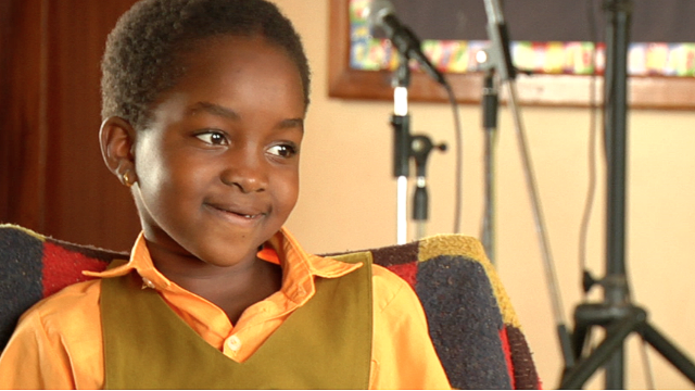 "Angel features heavily in the film. The eight-year-old Ugandan says she likes the spotlight ""because it makes me feel like I can be president."""