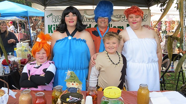 Visitors to West Virginia's Roadkill Cook-off can sample a range of exotic animal dishes (many freshly peeled off the road). Last year's winners of the cook-off (pictured) won with a dish called Stuffed Bear-Ron-A-Soar-Us.