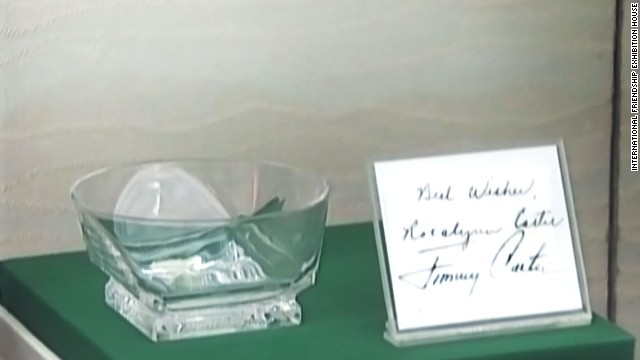 Former U.S. President Jimmy Carter's gift to Kim Jong Il in 1994 might have had another life as an oversized ashtray.