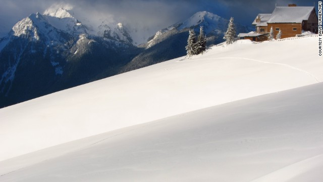 The road to Hurricane Ridge is open during the summer but requires tire chains in the winter.