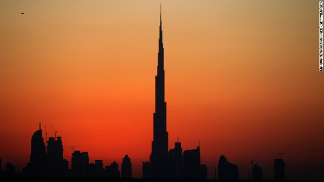Dubai's sunset gives the city's modern skyline a romantic glow.