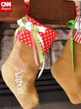 Gingerbread stockings such as these are some of the best-selling items in the store.