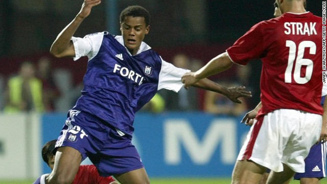 Kompany made his Anderlecht debut in 2003. The defensive player had been with the club's academy since 2000 and went on to win the Belgian Championship with the team in 2004 and 2006.