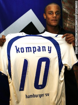 His performances earned him a move to German club Hamburg in 2006. A serious achilles injury limited Kompany to just six appearances in his first season in Germany.
