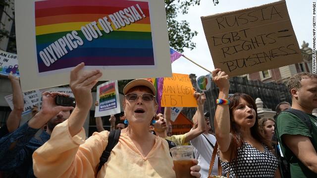 Activistas defienden derechos gay en Rusia por los Olímpicos de Invierno