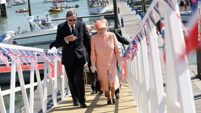 Britain's Queen Elizabeth II during a visit to the Royal Yacht Squadron clubhouse last year. She might be a patron, but that doesn't mean she's a member. But all that could be about to change...