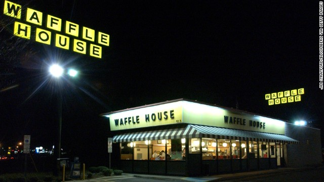 An unusual item Bob Greene noticed on the Waffle House menu led him to a classic American success story